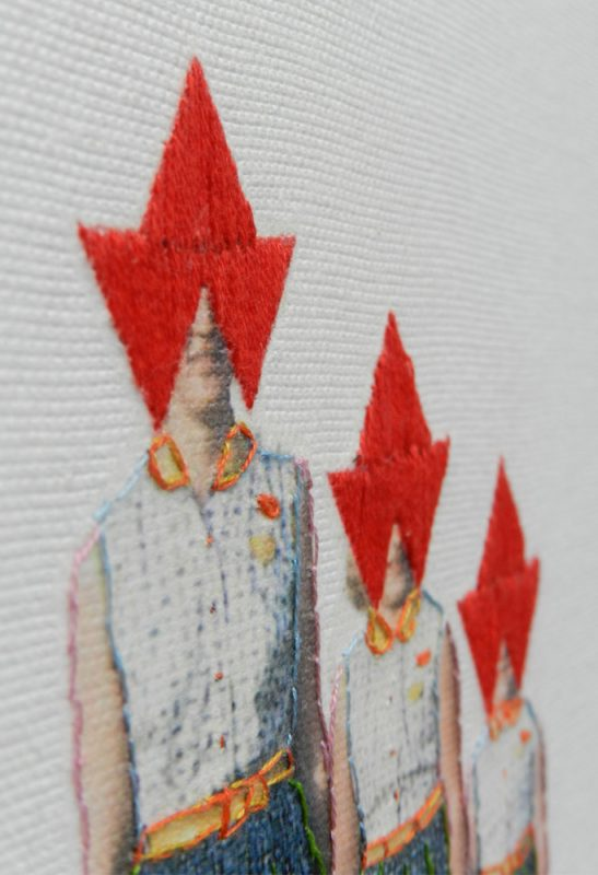 Sold. Looking-forward, 2011, threads on canvas (detail)